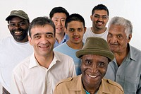 Multiracial Group of men standing together,