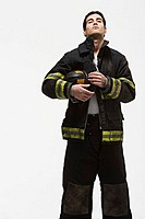 Portrait of a firefighter (thumbnail)