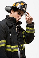 Firefighter tipping his hat