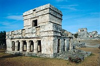 Temple of Frescoes. Tulum. Yucatan. Mexico