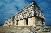 The Governor's Palace in Pre-Columbian mayan ruins of Uxmal. Yucatan, Mexico