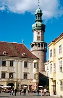 Firewatch tower. Main square. Sopron. Hungary.