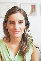 Portrait of a customer service representative smiling