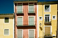 Houses in Main Square, Cuenca. Castilla-La Mancha, Spain