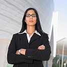Portrait of businesswoman with glasses