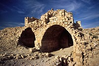The ruined catacombs of Shobak castle, Shobak, Jordan