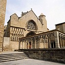 Santa Maria la Real Church in Olite, Navarre, Spain