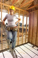 Portrait of Female Construction Worker