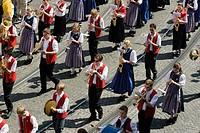 Kiliani festive procession Würzburg. Franconia Bavaria Germany