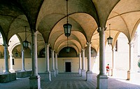 Italy - Emilia Romagna - Forlì.The cloister of San Mercuriale Church