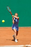 Front View of Female Tennis Player