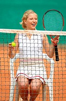 Female Tennis Player Sitting