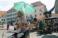 Old City Market Place Street Musician, Bratislavia, Slovakia