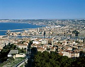 Marseille Harbor and City Skyline, Marseille, Cote d´Azur, France