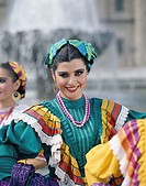 Woman Dressed in Traditional Costume, Guadalajara, Mexico