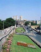 City Walls and York Minster Cathedral, York, North Yorkshire, England