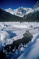 Panoramic view of snowcapped mountains, President Mountain, Yoho National Park, British Columbia, Canada