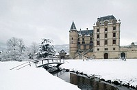 Chateau de Vizille Park after winter storm. Vizille. Isère. French Alps. France.