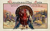 Thanksgiving Joys Postcard  Private Collection