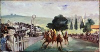 Races at Longchamp  1866 Edouard Manet (1832-1883 French) Oil on canvas Art Institute of Chicago, Illinois, USA