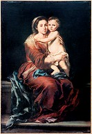 Madonna & the Rosary #1 Bartolome Esteban Murillo  (1617-1682/Spanish)
