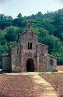 Church of San Salvador de Valdediós, Villaviciosa, Asturias, pre-romanesque architeture, Spain