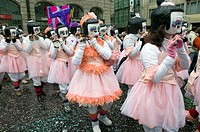 Fasnacht Carnival. Fasnacht Parade. Basel. Switzerland.
