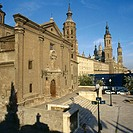 Church of San Juan de los Panetes and el Pilar basilica, Zaragoza. Aragón, Spain