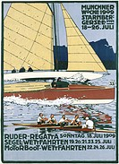 advertising, events, Münchner Woche Starnberger See, Munich, 18.7.1909 - 26.7.1909, poster, design by Ludwig Hohlwein (1874 - 1949), historical, histo...