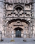 10237639, architecture, Gothic, construction sculpture, detail, Gothic, church, cloister, San Pablo, main entrance, portal, Sp