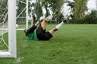 Goalkeeper missing a goal kick