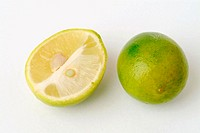 Citrus aurantiifolia, lime fruits.