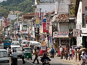 Urban traffic in the heart of Kandy, Sri Lanka