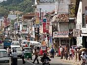 Urban traffic in the heart of Kandy, Sri Lanka