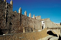Walls of Sant Mateu. Castell&#243;n province, Comunidad Valenciana, Spain