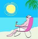The Beach 2 2004 Linda Braucht (20th C. American) Computer graphics