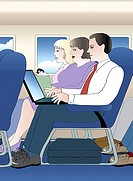 Business in the Air 3 2004 Linda Braucht (20th C. American) Computer graphics