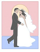 Bride and Groom Linda Braucht (20th C. American) Computer Graphics
