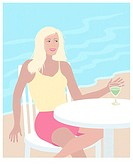 Beach Blond Linda Braucht (20th C. American) Computer Graphics