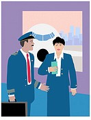The Airline Crew 3 Linda Braucht (20th C. American) Computer Graphics