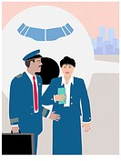 The Airline Crew 4 Linda Braucht (20th C. American) Computer Graphics