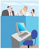 Office People 2 Linda Braucht (20th C. American) Computer Graphics