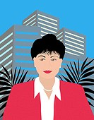 Oriental Business Executive 1 Linda Braucht (20th C. American) Computer Graphics