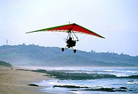 Low angle view of a person flying an ultralight