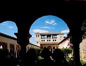 ´Patio de la Acequia´ at the Generalife , at Granada. Spain.