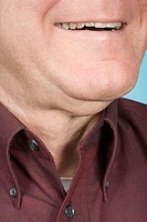 Chin of a man
