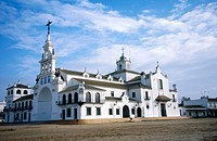Rocío church. El Rocío. Doñana Natural Park. Huelva province. Andalucia. Spain.