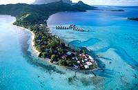 Airport. Bora Bora. Polynesia.