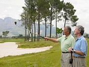 Senior men on a golf course (thumbnail)