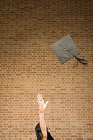 Graduate throwing their mortar board (thumbnail)